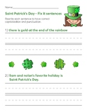 Saint Patrick's Day - Fix it sentences