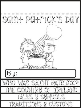 Saint Patrick's Day Informational Flip Book