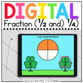 Saint Patrick's Day Fraction 1/2 and 1/4 Digital Activity