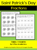 Saint Patrick's Day - Fractions for Third and Fourth Grade