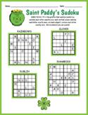 Saint Patrick's Day FREEBIE - Easy Sudoku Worksheet