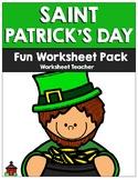 Saint Patrick's Day Fun Worksheet Pack (K-2)