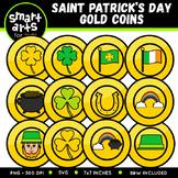 Saint Patrick's Day Gold Coins Clip Art
