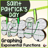 Saint Patrick's Day Algebra Graphing Exponential Functions