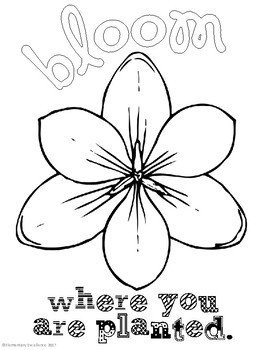 Spring Growth Mindset Coloring Pages by Elementary ...