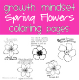 Spring Growth Mindset Coloring Pages