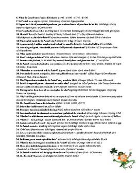 Saint Patrick's Day History & Quiz