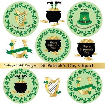 Saint Patrick's Day Icons Clipart