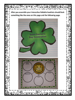 Saint Patrick's Day Interactive Foldable Booklets