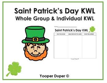 Saint Patrick's Day KWL