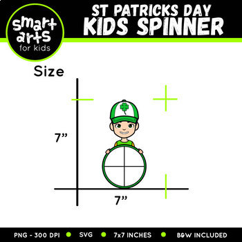 Saint Patrick's Day Kids Spinners Clip Art