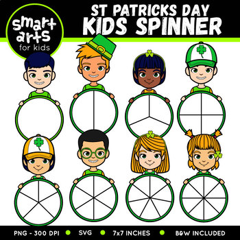 Saint Patrick's Day Kids Spinners Clip Art