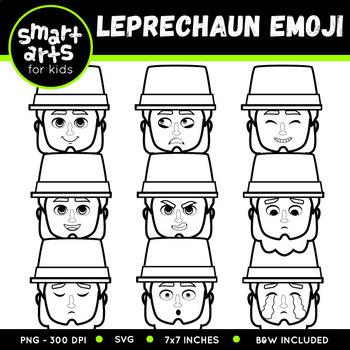 Saint Patrick's Day Leprechaun Emoji Clip Art