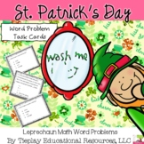 Saint Patrick's Day Leprechaun Math Word Problems in black/white print No Prep