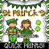 Saint Patrick's Day - Leprechaun Quick Prints