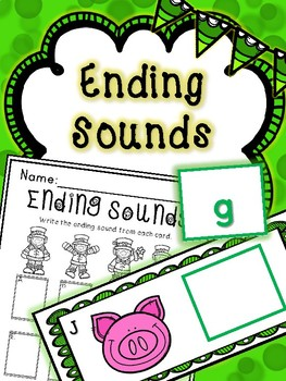 Saint Patrick's Day Literacy Center -- Ending Sounds