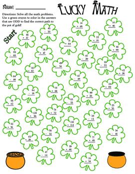 Saint Patrick's Day Math