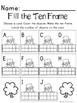 Saint Patrick's Day Math Center-- Fill the Ten Frame