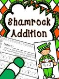 Saint Patrick's Day Math Center-- Shamrock Addition Bingo Dabber Center