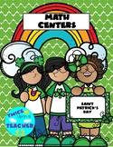 Saint Patrick's Day Math Centers Grade 1