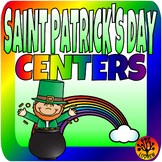 Saint Patrick's Day Centers Literacy Math Spring Activities St. Pat's Centers