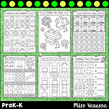Saint Patrick's Day Math Worksheets