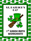 Saint Patrick's Day Math Worksheets (CCSS: 1.OA.1   1.OA.