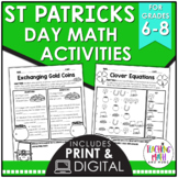 Saint Patrick's Day Middle School Math Activities