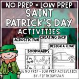 Saint Patrick's Day Mini-Activity Pack / Editable Bingo Cards