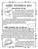 Saint Patrick's Day  Morning Work/Class Work/Homework