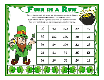 Saint Patrick's Day Multiplication