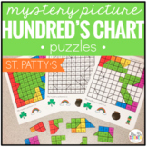 Saint Patrick's Day Mystery Picture Hundred's Chart Puzzles