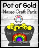 Saint Patrick's Day Craft for Kindergarten: Pot of Gold Name Coins