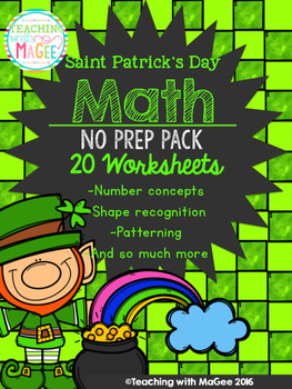 Saint Patrick's Day No Prep Math Pack
