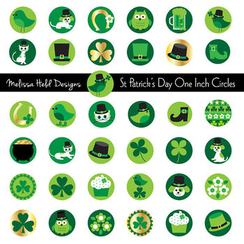 Saint Patrick's Day One Inch Circles Clipart