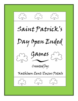 Saint Patrick's Day Open Ended Games