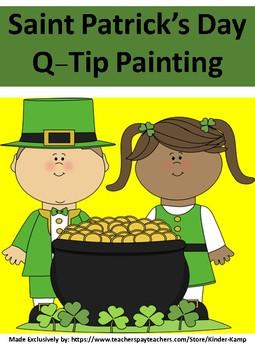 Saint Patrick's Day Q-Tip Painting Fun
