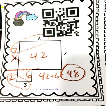 QR Codes Rectilinear Area March Math Center