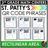 St. Patrick's Day Math Game - QR Codes Rectilinear Area
