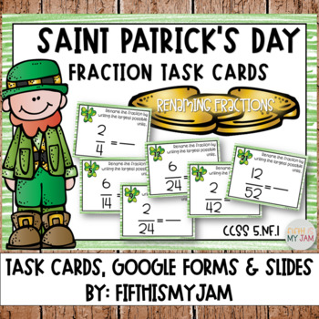 Saint Patrick's Day Renaming Fractions Task Cards