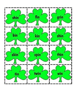 Saint Patrick's Day Rhyming Game