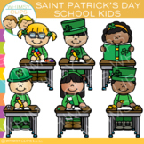 School Kids Saint Patrick's Day Clip Art