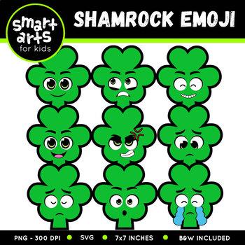 Saint Patrick's Day Shamrock Emoji Clip Art