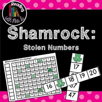 Saint Patrick's Day Shamrock Missing Stolen Numbers