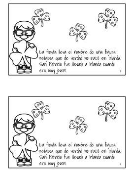 Saint Patrick's Day Spanish Mini Book