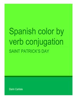 Saint Patrick's Day Spanish verb conjugation San Patricio mystery picture