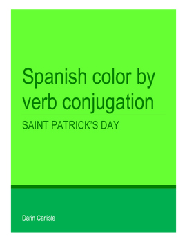 Saint Patrick's Day Spanish verb conjugation San Patricio