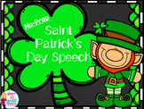 Saint Patrick's Day Speech: No-Prep Articulation