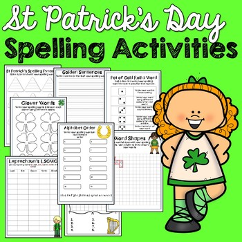 St Patrick's Day Spelling Activities