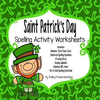 Saint Patrick's Day Spelling Worksheets